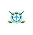 vacation golf logo icon design vector image vector image