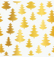 vecrtor golden christmas trees seamless repeat vector image