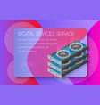 video card set mining bitcoin vector image vector image