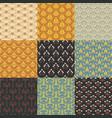 vintage retro floral seamless pattern vector image