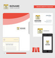website business logo file cover visiting card vector image vector image