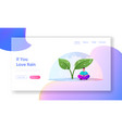 wet weather landing page template drenched tiny vector image