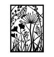 wildflower template for cricut black flower vector image