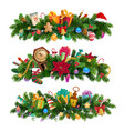 winter holiday christmas decorative compositions vector image vector image