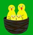 yellow birds vector image vector image