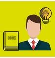 man book idea icon vector image