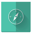 paper flat icon with a shadow compass vector image