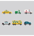 Transportation Icon Series in Flat Colors Style vector image