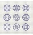 Line gears icon set sketch vector image