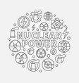 nuclear power round vector image