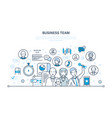 business team teamwork communication dialogues vector image vector image