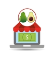 buying online avocado icon vector image vector image