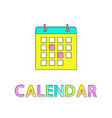 calendar with highlighed days vector image