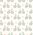 Cartoon bicycles pattern vector image vector image