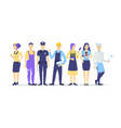 cartoon color different characters professions set vector image vector image