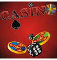 casino red strip vector image vector image