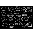 Chef toques or hats on black background vector image