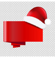 christmas banner with holly berry transparent vector image vector image