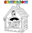 coloring book school cartoons 4 vector image