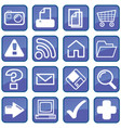 computer-interface-buttons vector image vector image