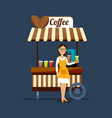 concept of street food trading vector image vector image