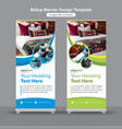 creative interior design roll up banner vector image vector image