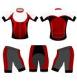 Cycling clothing vector image vector image