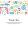 doodle theatre background vector image