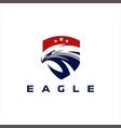 eagle head star logo design vector image vector image