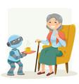 elderlyrobot ayelet-keshet vector image vector image