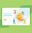 financial consulting strategy landing page vector image