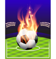 Fire Soccer Field vector image vector image