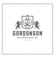 fitness gym logo or emblem vector image vector image
