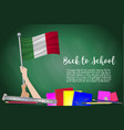 flag of italy on black chalkboard background vector image