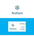 flat share idea logo and visiting card template vector image vector image