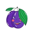 Fruit plum vector image vector image