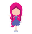 girly fairy without face and wings and magenta vector image vector image