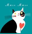 graphic portrait a cat vector image vector image