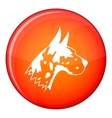 Great dane dog icon flat style vector image vector image