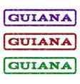 guiana watermark stamp vector image vector image