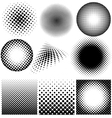 Halftone collection on white background vector image vector image