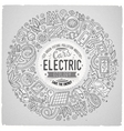 hand drawn set of Electric cars cartoon vector image vector image