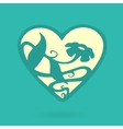 heart symbol nature vector image vector image