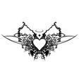 heart valentine stencil vector image vector image