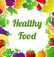 HelthyFoodFrame vector image vector image