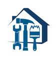 home repair with a tool vector image vector image