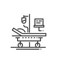 hospital - line design single isolated icon vector image vector image