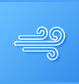 icon weather wind vector image
