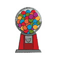 isolated candy machine design vector image vector image