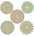 mandala design set vector image